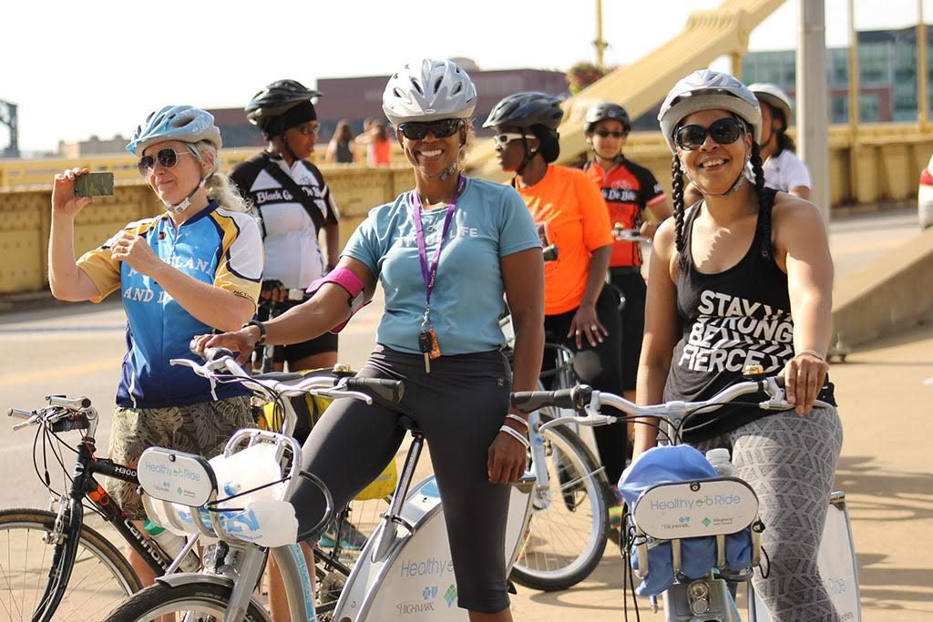 Black Girls Do Bike members, courtesy of founder Monica Garrison