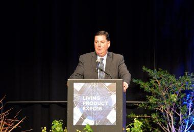 Mayor Bill Peduto at the Living Product Expo